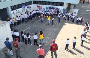 El operativo fue desplegado desde el Grupo Escolar Eduardo Méndez