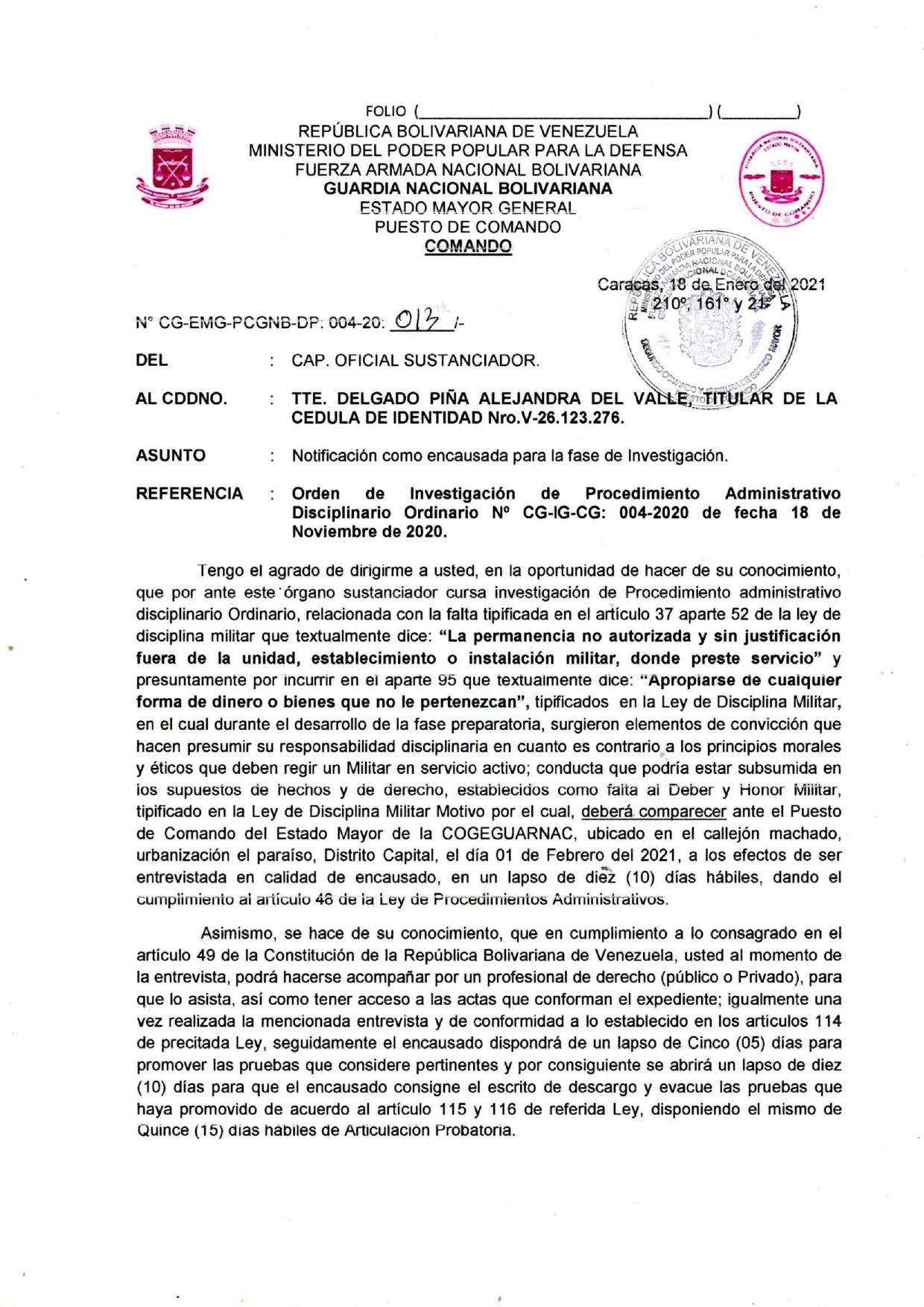 NOTIFICACIÒN DE ENCAUSADA TTE. DELGADO PIÑA ALEJANDRA 18 DE ENERO 2021_page-0001