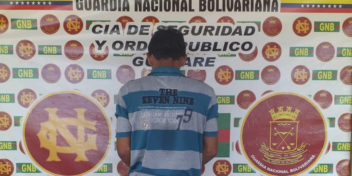 GNB Portuguesa capturó a ciudadano con 17 envoltorios de la presunta droga denominada Marihuana