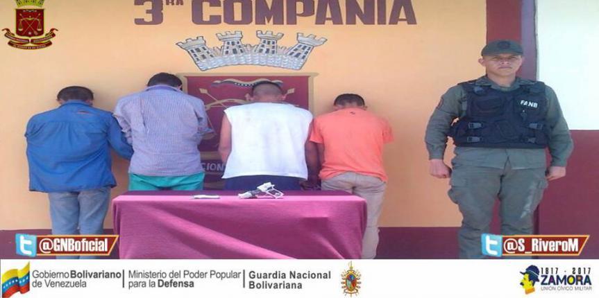 GNB Barinas efectúa desmantelamiento de una banda dedicada al robo en Barinitas