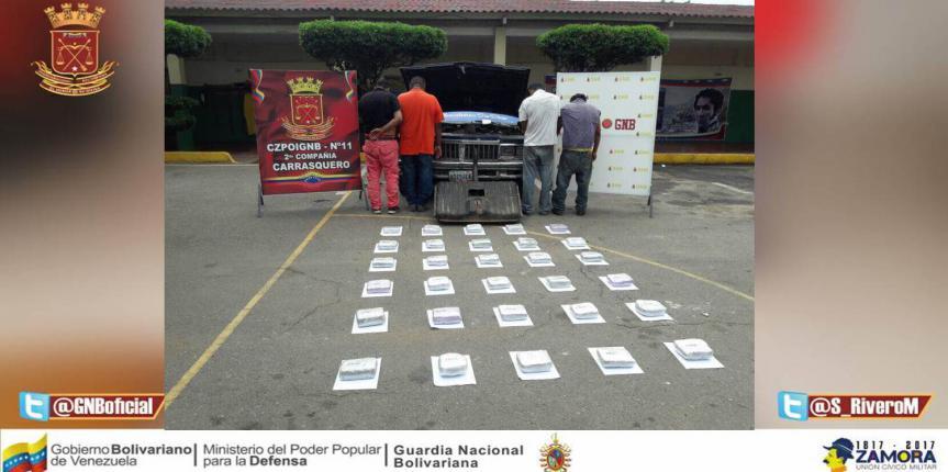 GNB incautó 30 panelas de marihuana en el municipio Mara del estado Zulia