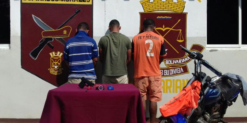 GNB desmanteló dos bandas delictivas que operaban en Monagas