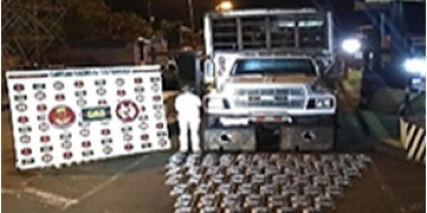 GNB Táchira incautó 120 panelas de cocaína en motor de vehículo