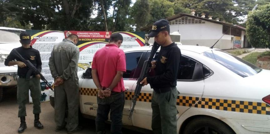 GAES Guárico detuvo a dos ciudadanos por extorsión