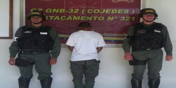 Detenido ciudadano requerido por la justicia en el estado Cojedes