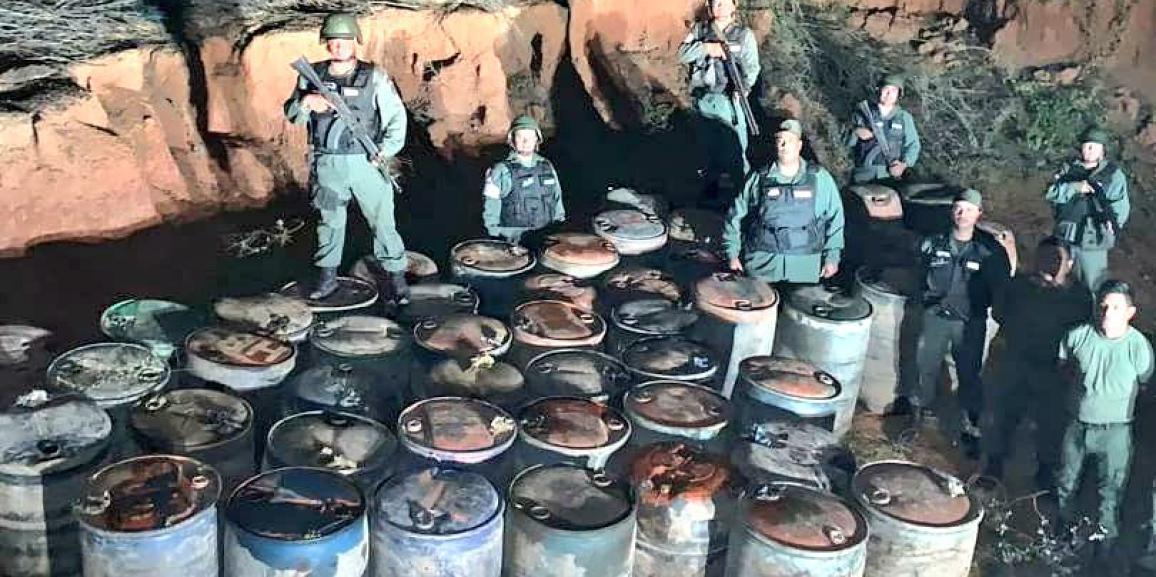 Depósito clandestino de combustible fue desmantelado por la GNB Zulia