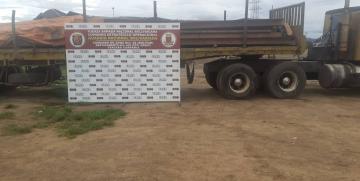 GNB retuvo camión con 30 toneladas de rieles de vía férrea