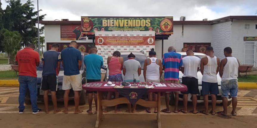 """GNB capturó a 11 integrantes del GEDO """"El Perú"""" en El Callao"""
