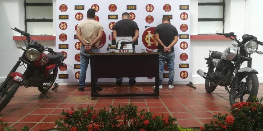 GNB desmanteló 6 bandas durante el fin de semana