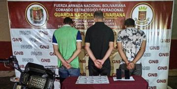 """GNB Desmantela al G.E.D.O """"EL GIGI"""" dedicados a la extorsión y distribución de droga en Villa del Rosario"""
