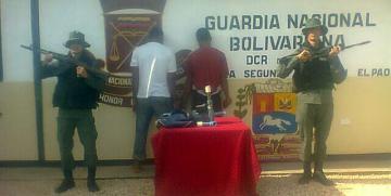 """GNB desmantela banda denominada """"Los Roba Fundo"""" dedicada al hurto en Cojedes"""
