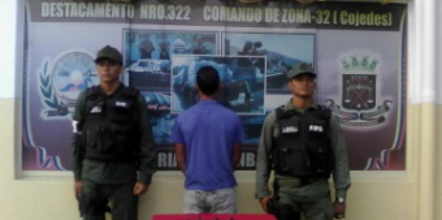 GNB Cojedes detuvo a ciudadano por microtráfico de drogas