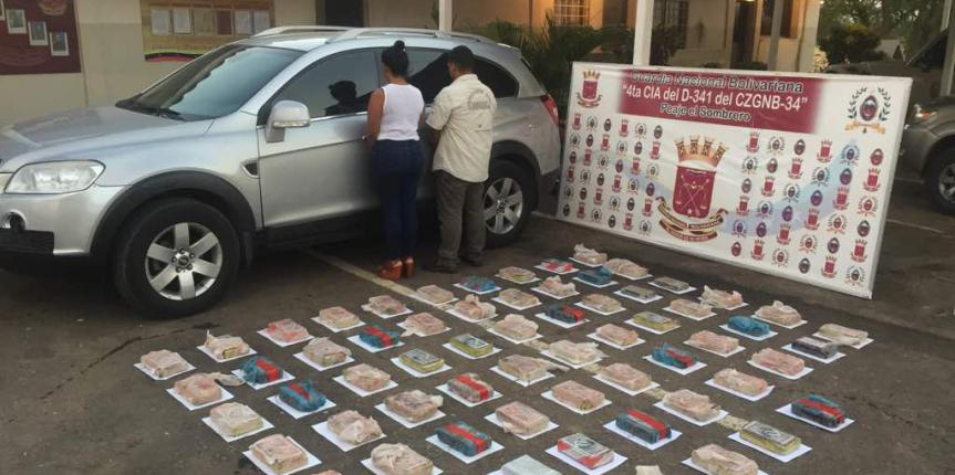 GNB Guárico capturó a hermanos pasando 65 panelas de cocaína