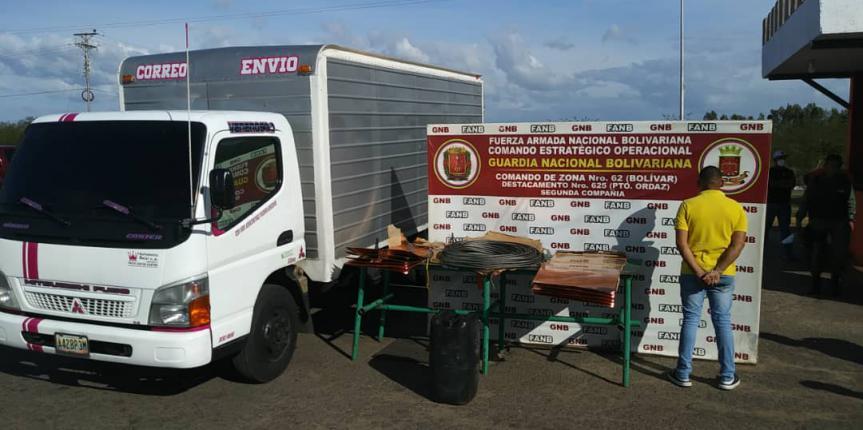 GNB detuvo a ciudadano que transportaba material estratégico y combustible ilegalmente
