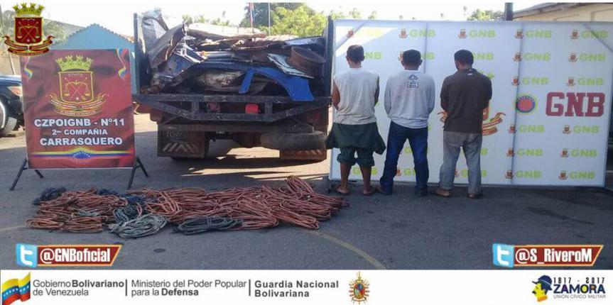 GNB Zulia recupera más de 7 toneladas de material ferroso