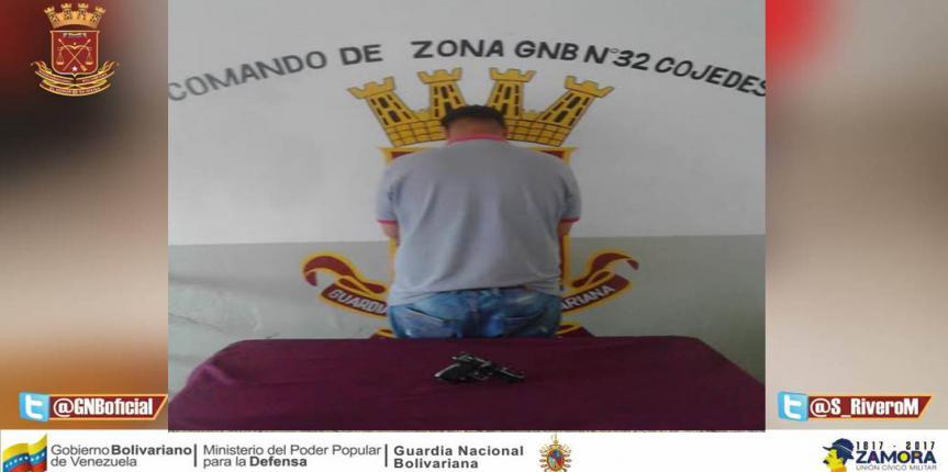 GNB retuvo arma de fuego en San Carlos estado Cojedes