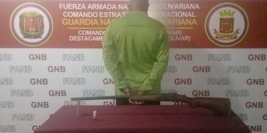 GNB captura un sujeto por el homicidio de un indígena en el estado Bolívar