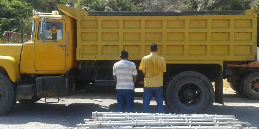 GNB retuvo más de 31 toneladas de cemento por desvío