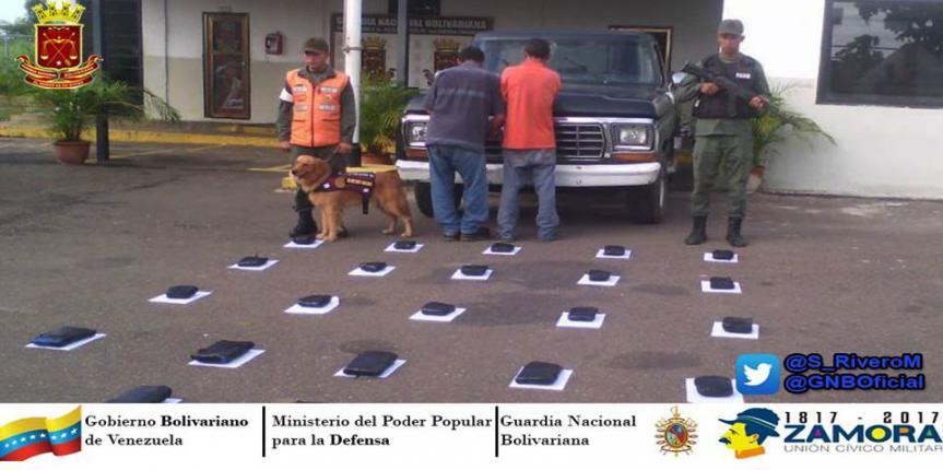 """GNB intercepta cargamento con 23 panelas de marihuana denominada """"Cripy"""" en Guárico"""