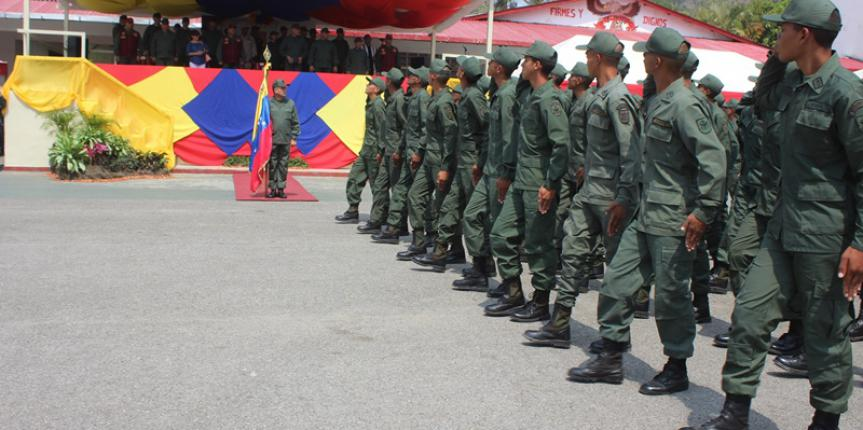 468 aspirantes a alumnos del curso de Sargentos  de la GNB realizaron su juramento