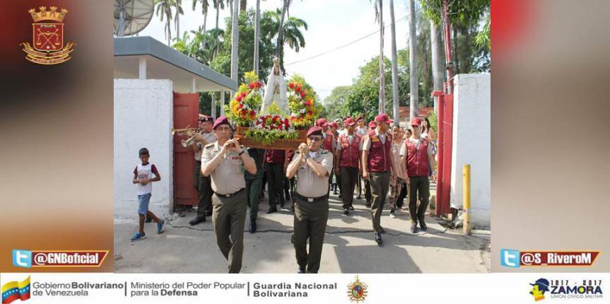 FANB rindió tributo a la Virgen del Valle en Anzoátegui