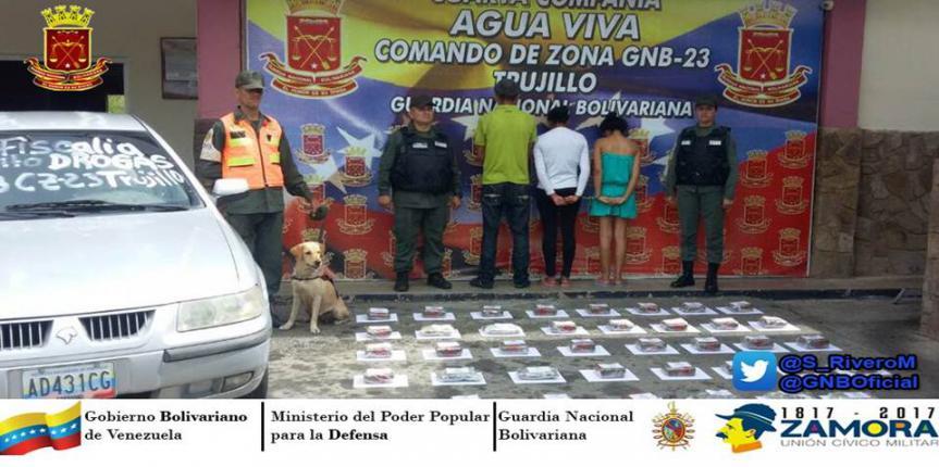 Golpe duro al Narcotráfico GNB Trujillo incautó más de 20 kilos de Marihuana