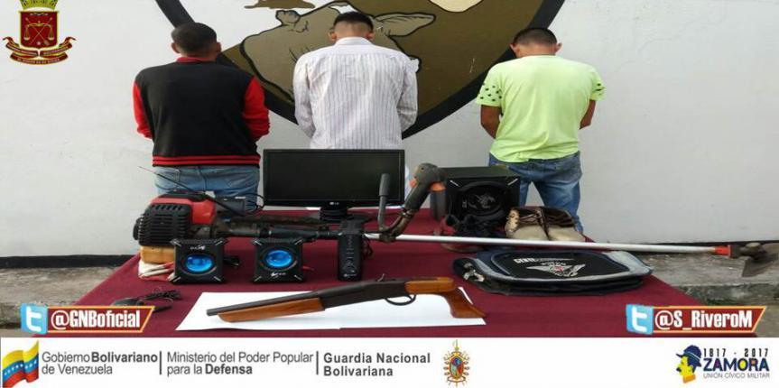 GNB Barinas desmanteló banda delictiva de Ciudad Tavacare