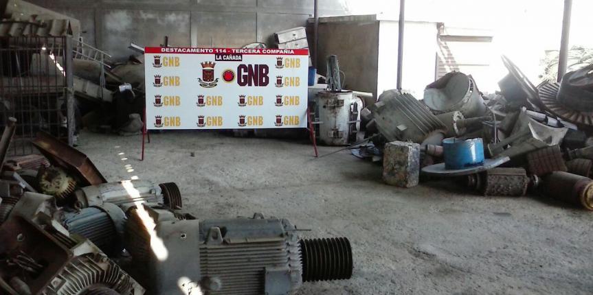 GNB Zulia recupera material estratégico y maquinarias pertenecientes a PDVSA