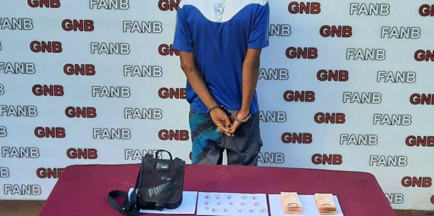 GNB capturó a dos microtraficantes en el estado Bolívar