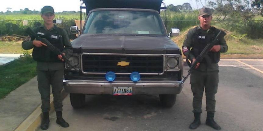 GNB retuvo camión con tanque adaptado en el estado Mérida