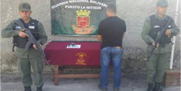 GNB detuvo a ciudadano por porte ilícito de armas de fuego en el estado Mérida