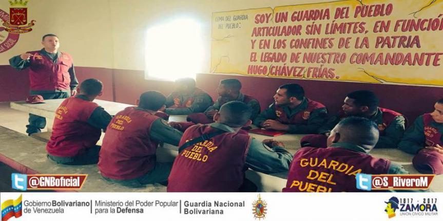 Guardia del Pueblo Delta Amacuro instala mesas de trabajo para su expansión y consolidación