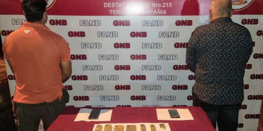 GNB detuvo a dos ciudadanos por tráfico de oro en Táchira