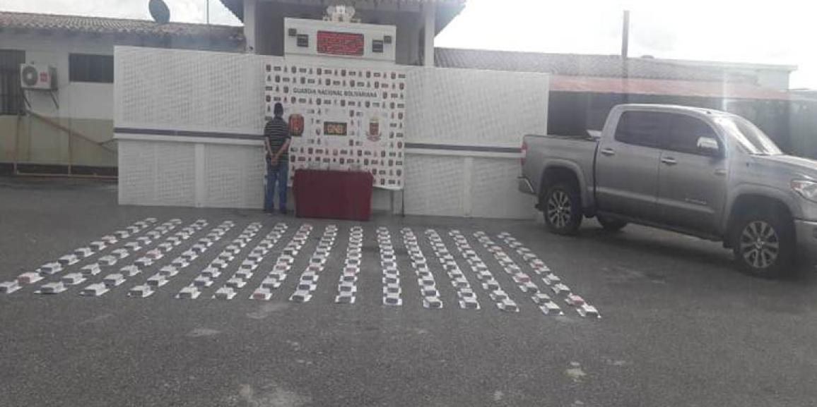 GNB capturó a un ciudadano con 223,8 kilogramos de presunta cocaína en Mèrida
