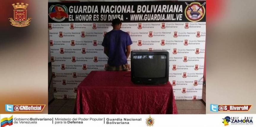 GNB Falcón frustró robo de una vivienda en sector Curazaito