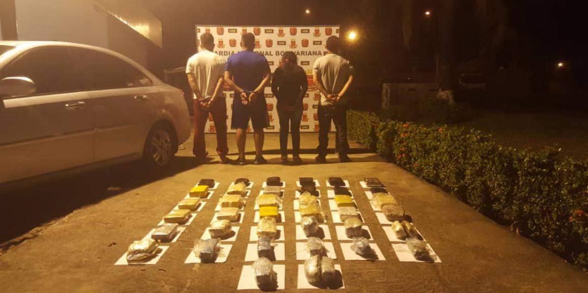 GNB incautó más de 27 kilogramos de droga en Caicara del Orinoco estado Bolívar