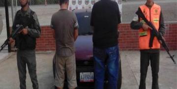 GNB capturó a presuntos informantes de una red de narcotráfico