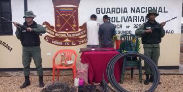 """GNB desmantela banda denominada """"Los Roba Finca"""" en el estado Cojedes"""