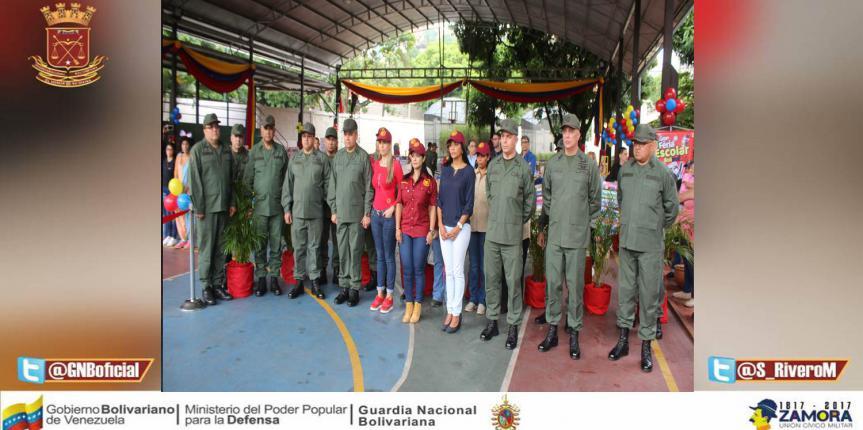Comité de Acción Social de la GNB instaló Feria Escolar Bolivariana en la COGEGUARNAC