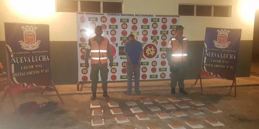 GNB Zulia incautó 27 panelas de droga en Mara