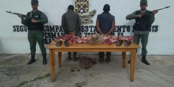 GNB Monagas captura a dos ciudadanos por el delito de hurto de ganado en Barrancas del Orinoco