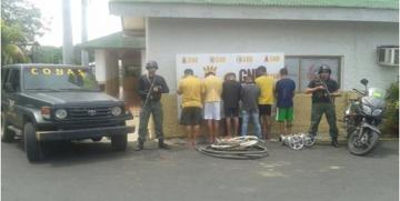 GAES captura a seis ciudadanos por robo en el estado Zulia