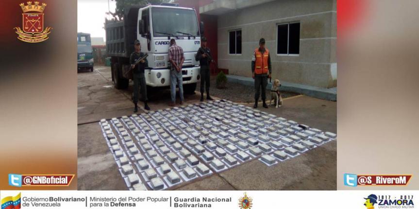 GNB Falcón logra duro golpe al Narcotráfico incautando más de 227 kilos de droga
