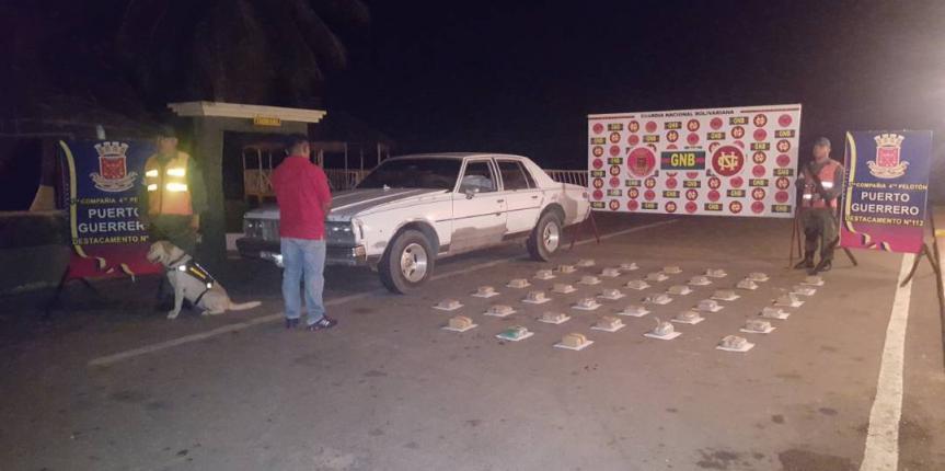 Nuevo golpe al tráfico de drogas GNB incautó 39 panelas de marihuana en Mara
