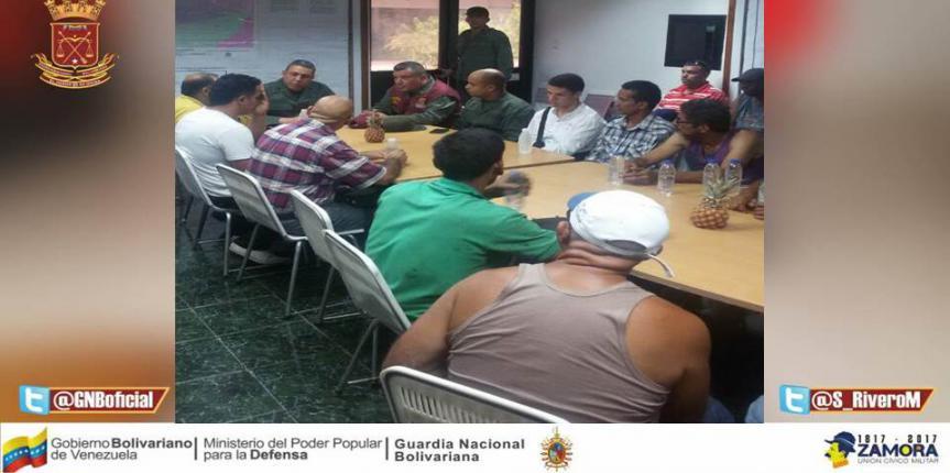 GNB Anzoátegui realizó mesas de trabajo de seguridad integral para el sector Agrícola, Avícola y Pesquero