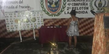 Detenida ciudadana con un envoltorio de presunta Marihuana en el estado Táchira