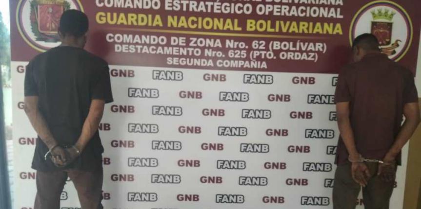 GNB Bolívar capturó a dos ciudadanos por robo en la empresa SIDOR