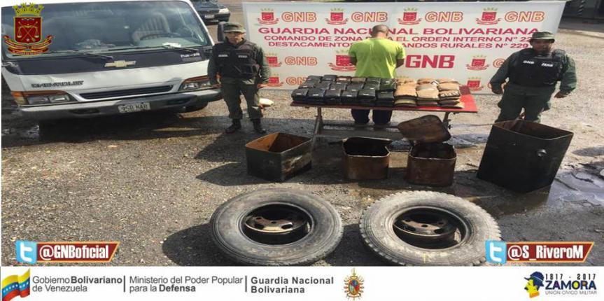 GNB confiscó 100 panelas de Marihuana Mérida