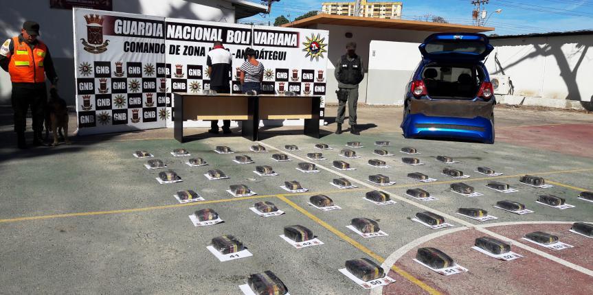 Incautados 31 kilogramos de marihuana en Anzoátegui por la GNB