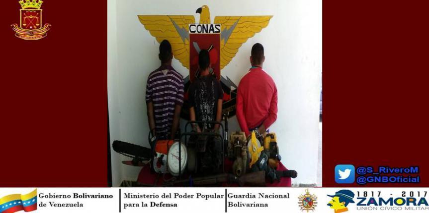 CONAS  detiene banda delictiva en Guárico